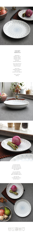 아와이블루 중접시 21cm - 로메이키친A, 8,500원, 접시/찬기, 접시