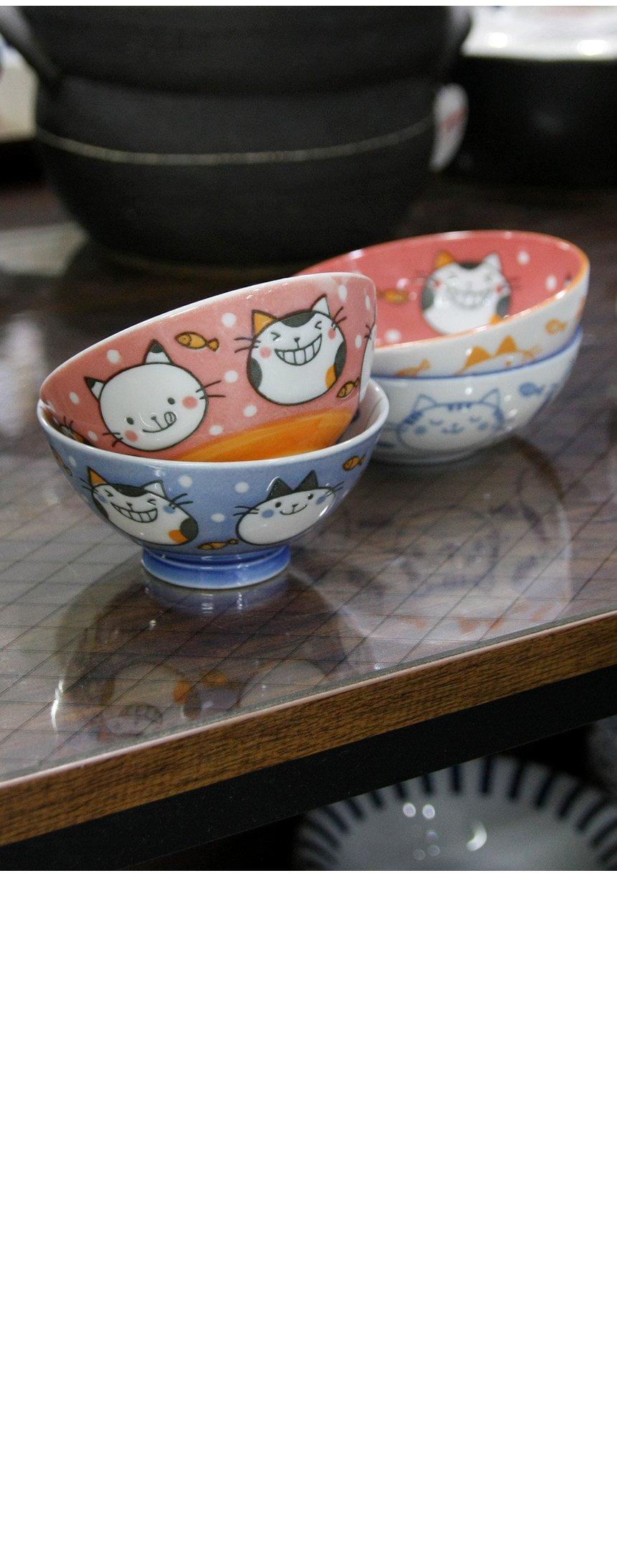 일본식기 리버스네코 공기와대접 - 로메이키친A, 10,000원, 밥공기/국공기, 밥공기